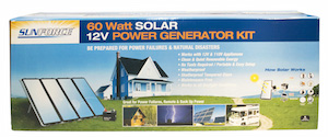 60 Watt Solar 12V Power Generator Kit