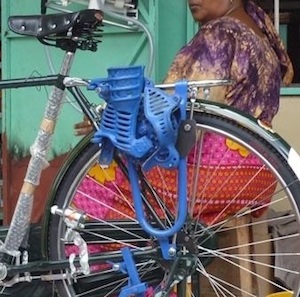 Bicycle Powered Maize Sheller