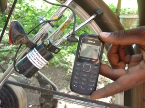 Bicycle Powered Cell phone Charger