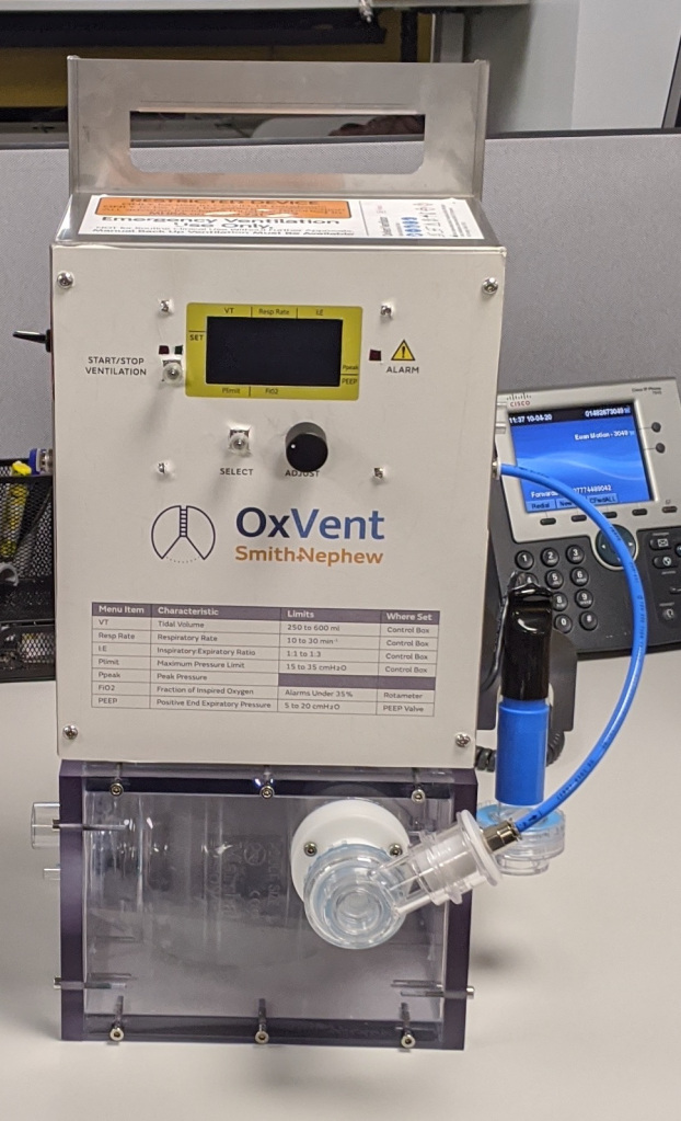 OxVent - A rapid prototype ventilator