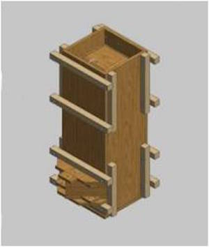 Wood Mold for Concrete BioSand Filters