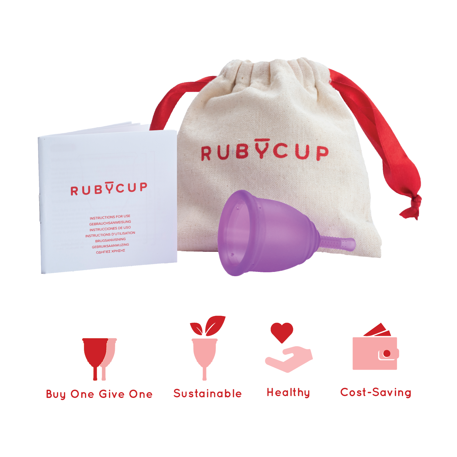 Ruby Cup Menstrual Cup